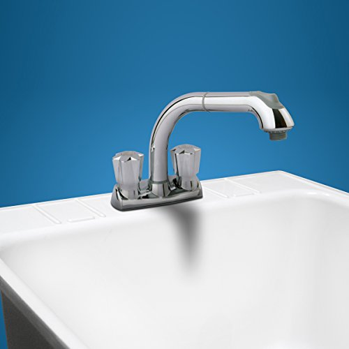 Cleanflo 480 Pull Out Laundry Faucet 3 Hole Installation High 8 Inch Arc Ebay