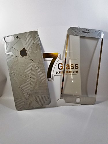 3D Diamond Tempered Glass Screen Protector iPhone 7 (Black) - 4