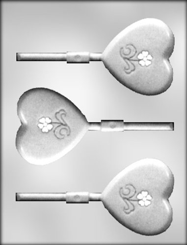CK Products Smooth Heart with Flower Sucker Chocolate Mold