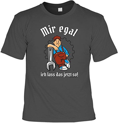 T-Shirt - Mir egal, ich lass das jetzt so grau - lustiges Sprüche Shirt als Geschenk für Heimwerker mit Humor