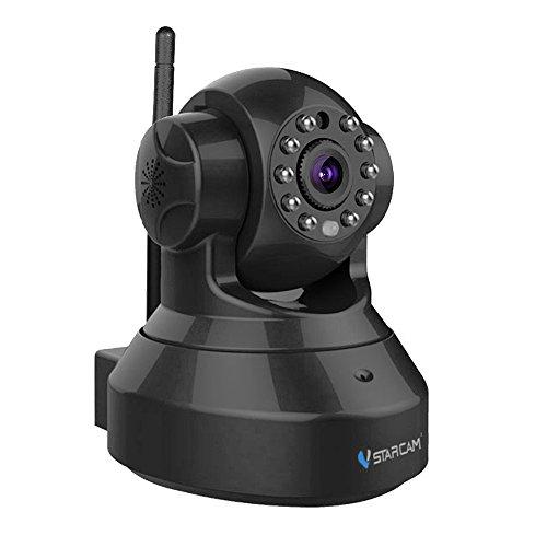 Vstarcam HD 1280*720 Überwachungskamera P2P Wireless IP Kamera, 3DB wifi Antenne, WiFi Wlan Netzwerk Überwachung, Pan/Tilt, Schwenkbare IR Monitor, E-Mail Benachrichtigung, Die bis zu 64GB, Schwarz