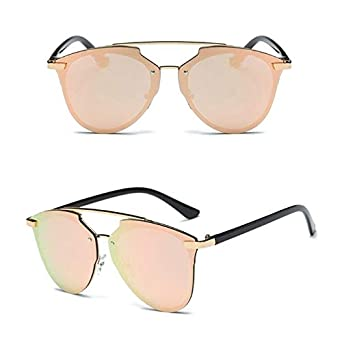 492de472bc0510 Shopystore Gpk: Cat Eye Polarized Sunglasses Women Classic Brand r Glasses  Twin-Beams Rose G: Amazon.in: Clothing & Accessories