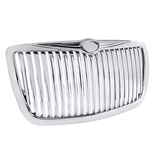 (Spec-D Tuning HG-300C05CVT Chrysler 300 300C Chrome Vertical Front Grill Grille)