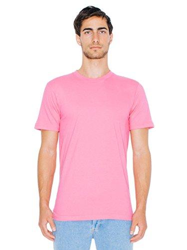 American Apparel  Unisex Fine Jersey Short Sleeve T-Shirt, Fuchsia, Medium