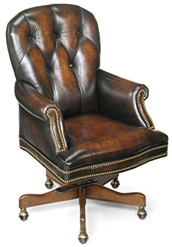 Brown Luxurious Conference Chair (Hooker Furniture Marcus Executive Swivel Tilt Chair, Brown)