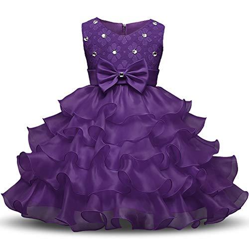 Flower Girl Dress Summer 0-8 Years Floral Baby Girls Dressess 9 Colors Wedding Party Children,She Nz -