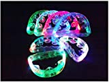 Unbranded 12 Flashing Tambourines Light Up Round Jingles LED Church Autism Sensory Toy Size: 6' Length x 4' Height