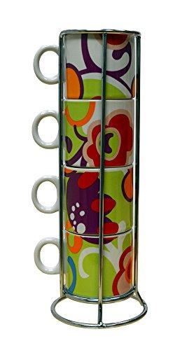 A120 22193 4 Piece Espresso Coffee Multicolor