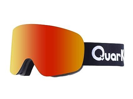 b65bab55544 Quark Ski Goggles for Men and Women - 5X Antifog High Contrast A.I.O Single  Pane Lens Snowboard Goggles