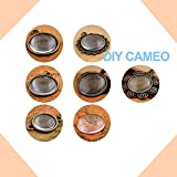 Acmer Transparent Glass cabochons, Clear Glass Dome