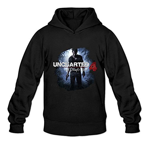 JuDian Men's Uncharted 4 A Thiefs End Game Nathan Drake Hoodies