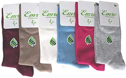 6 Pairs Emre Bamboo Seamless Casual Dress Socks (Light ()