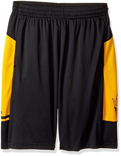 adidas NCAA Arizona State Sun Devils Adult Men NCAA Sideline Shorts, Large, Black