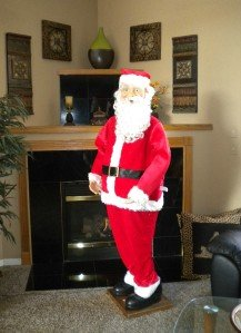 HUGE 70 LIFE SIZE SANTA CLAUS SINGING ANIMATED ENGLISH / SPANISH by Holiday (Animated Singing Santa)