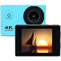 Kanzd Waterproof 4K F60R Wifi HD 1080P Ultra Sports Action Camera DVR Cam Camcorder (Blue)