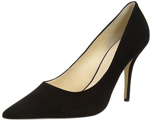 Högl 0- 12 9002 - zapatos de tacón cerrados de terciopelo mujer negro - Schwarz (0100)