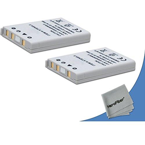 2 High Capacity Replacement Nikon EN-EL5 Batteries for Nikon Coolpix P520 Digital Camera