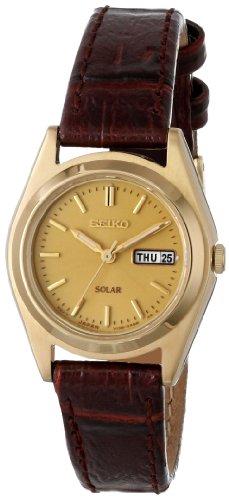 Seiko Women's SUT120 Analog Display Japanese Quartz Brown Watch