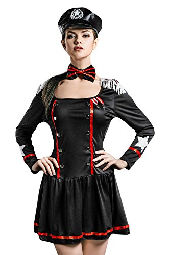 Women's Marines Halloween Costumes (Adult Women Navy Halloween Costume Sexy Captain Marine Corps Dress Up & Role Play (One size fits most))