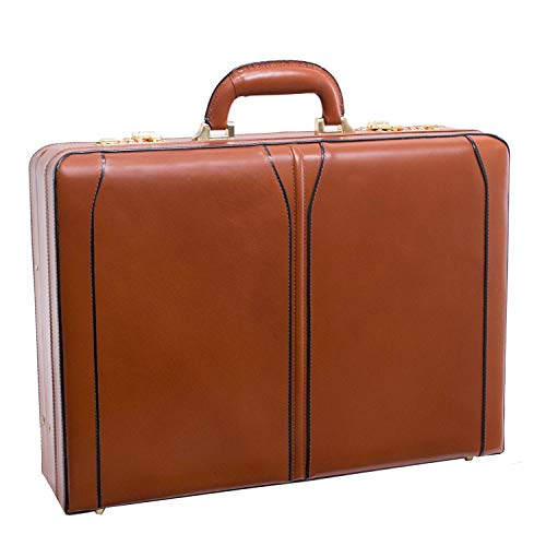 Briefcases Leather Custom - McKleinUSA Turner [Personalized Initials Embossing] Leather 4.5