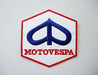 Iron-On Embroidered Patch of Vespa Italy Motorsport - Motorcycles - Biker - Motovespa - Costume Embroidered Patch - White, Red, Blue