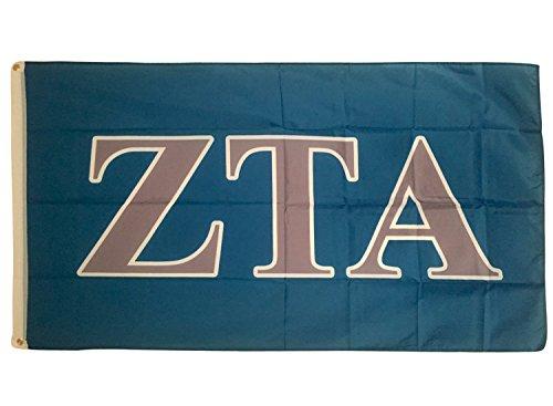 Desert Cactus Zeta Tau Alpha Letter Sorority Flag Greek Letter Use as a Banner Large 3 x 5 Feet Sign Decor