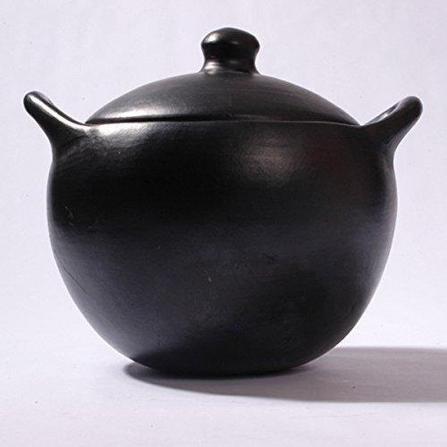 Black Clay, La Chamba Rounded Soup Pot - Colossal - 21 Quarts