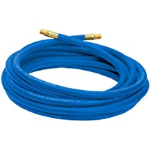 Campbell Hausfeld Air Hose 25ft, 3/8-Inch, Reinforced PVC Hose with Brass Fittings, Blue (PA1177)