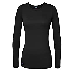Sivvan Women's Comfort Long Sleeve T-shirtunderscrub Tee - S8500 - Black - 2x
