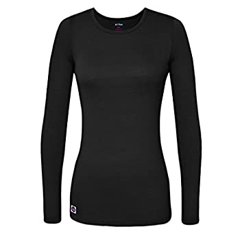 Sivvan Women's Comfort Long Sleeve T-shirtunderscrub Tee - S8500 - Black - 2x 0