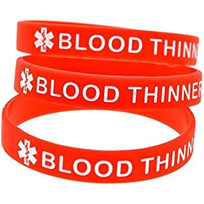 Relddd Silicone hand ring blood thinner warning color-filled wrist band Creative gift set pieces Estimated Price £23.99 -