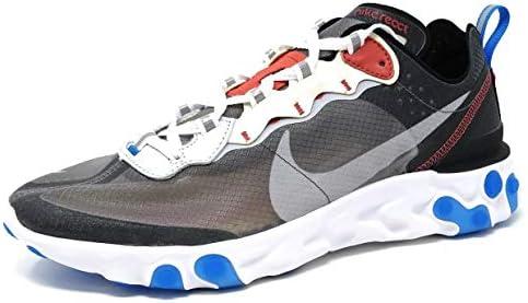 Nike React Element 87 - Darke Grey/Pure Platinum Trainer Size 8 UK: Amazon.es: Zapatos y complementos