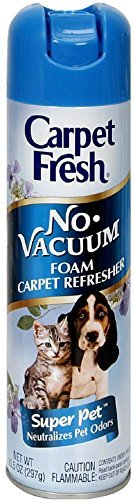 Carpet Fresh No Vacuum Foam Carpet Refresher, Super Pet 10.50 oz (Pack of 2)