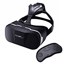 BlitzWolf VR Headset 3D Virtual Reality Glasses+Bluetooth Remote Controller Movies Games Box Helmet for Up to 6.3 inch iPhone Samsung LG SONY Moto Nexus