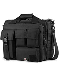 Tactical Briefcase, 15.6 Inch Men's Messenger Bag Military Briefcase for Men