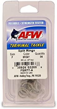 American Fishing Wire Split Rings (Stainless Steel)