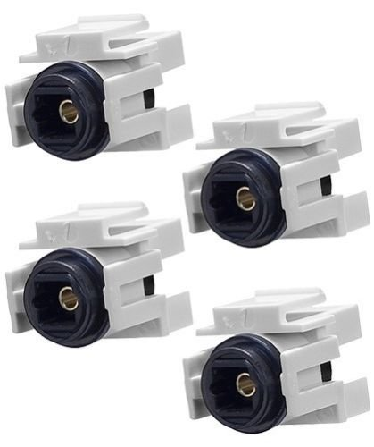 FYL 4x Toslink Audio Optic Fiber Optics Coupler Jack Insert for Keystone Wall Plate