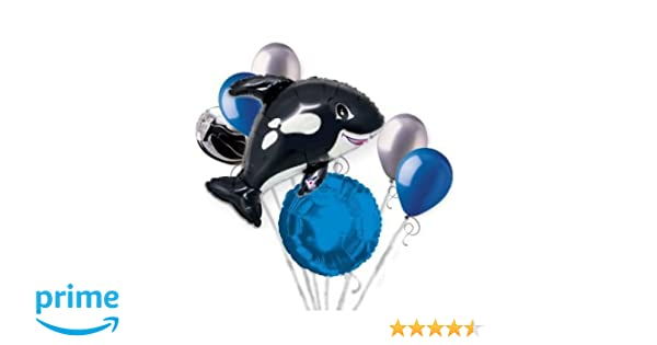 Amazon.com : 7 pc Orca Black Killer Whale Balloon Bouquet Party Decoration Fish Ocean Sea : Beauty