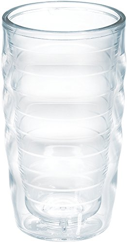 Tervis 1049865 Clear & Colorful Insulated Tumbler, 10 oz Wavy Tritan, Clear