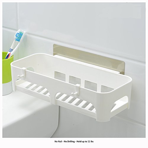 Catch 101 All Purpose Bathroom Kitchen Wall Caddy Basket Storage Organizer w/ Removable Bracket - Kitchen Storage Organizer, Shower Caddy, Garage Organizer, etc