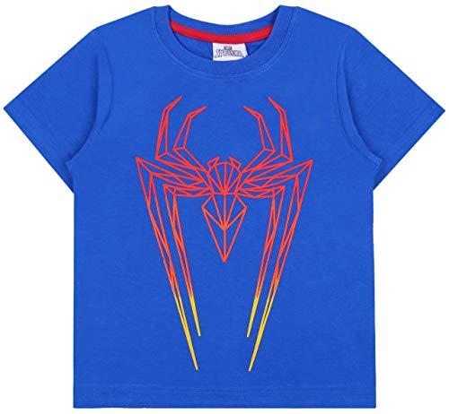 Jongens Blauw T-shirt Spiderman Thema