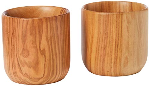 Berard 89071G Expresso Cup Set 2X8Cm Olive Wood with Cotton Bag for Gift, ()