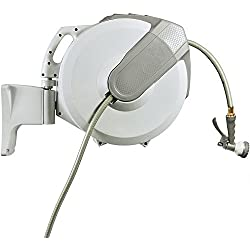 "Yardfitter AutoReel Retractable Hose Reel (60 Feet x 5/8"")"