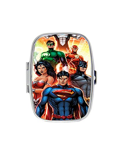 [Justice League Legends Of The Superheroes Personalized Custom HOT Sale stainless steel Pill Case Box Medicine Organizer Gift] (Hot Superhero Women)