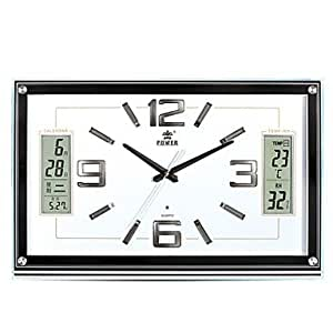 "VV modern/contemporary/Office/business cristal/Rectangular de plástico reloj de pared W5.6cm xL51.2cm xH33.3cm (W2,2 pulgada x L20 "" xH13 pulgada)"