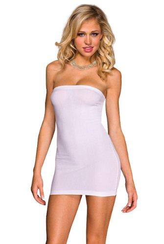 Music Legs Womens Sexy White Mini Tube Dress!, One Size (Tube Dress Mini)