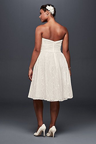 Strapless lace plus size short wedding dress style 9wg3826 junglespirit Image collections