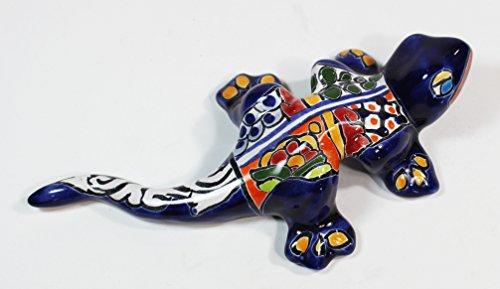 Talavera Wall Salamander - 7.25'' L by Tierra Fina