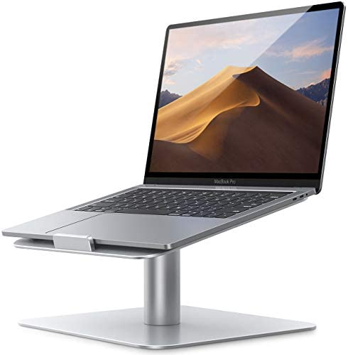 "Swivel Laptop Stand, Lamicall Laptop Riser - [360-Rotating] Ergonomic Aluminum Computer Desk Holder Compatible with MacBook, Air, Pro, Dell XPS, HP, Lenovo and More 10"" - 17.3"" Notebook - Sliver"
