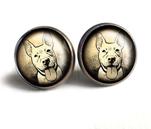 Pitbull Stud Earrings